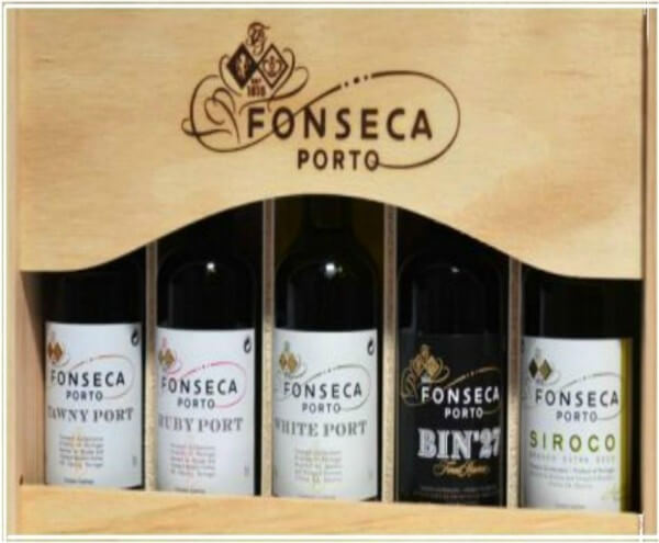 Fonseca Porto - Holzkiste mit 5 Miniaturen (á 0,05 Liter)