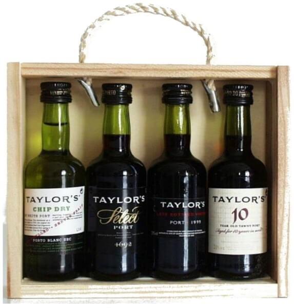 Taylor's Port - Holzkiste mit 4 Miniaturen (á 0,05 Liter)